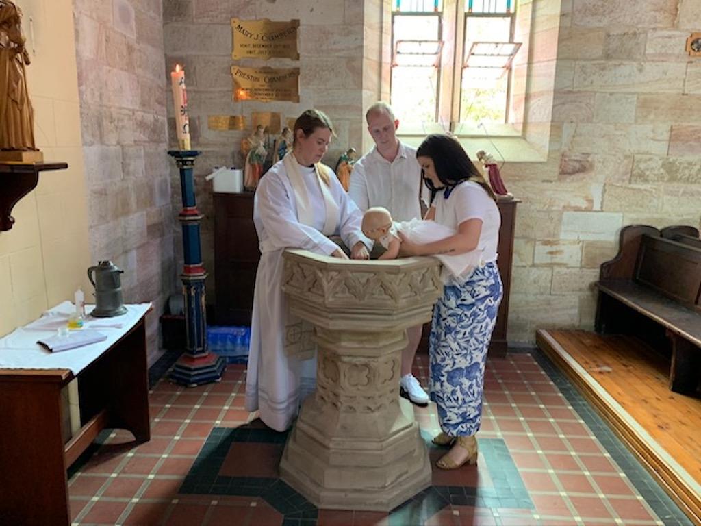 Baptism at St James' Anglican Church, Morpeth